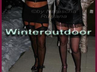 Heißes Lesben-Shooting im Schnee