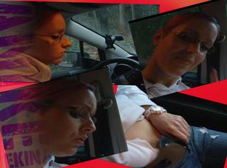 """Vorschaubild vom Privatporno mit dem Titel """"Ich fingere mich selbst im Auto"""""""