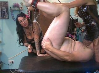 "Vorschaubild vom Privatporno mit dem Titel ""FemDom Double Trouble by Dominatrix Lady Vampira and Mistress Lady Yasmin"""