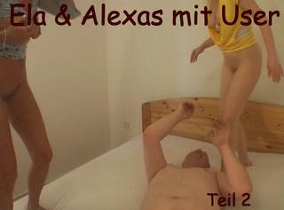 """Vorschaubild vom Privatporno mit dem Titel """"Ela und Alexas mit User - Teil 2"""""""