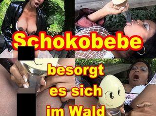 """Vorschaubild vom Privatporno mit dem Titel """"Schokobebe auf einem Waldparkplatz"""""""