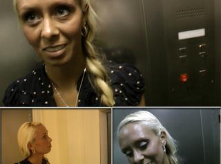 """Vorschaubild vom Privatporno mit dem Titel """"Mega Blow-Job im Fahrstuhl"""""""