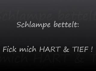 """Vorschaubild vom Privatporno mit dem Titel """"Schlampe bettelt : Fick mich HART und TIEF !!!"""""""
