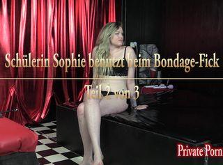 """Vorschaubild vom Privatporno mit dem Titel """"Studentin Sophie benutzt beim harten Bondage-Fick - Teil 2 von 3"""""""