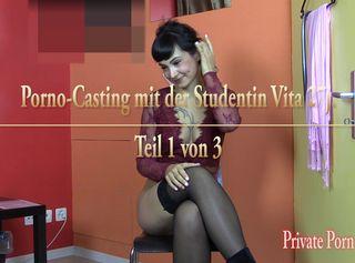 """Vorschaubild vom Privatporno mit dem Titel """"Porno-Casting mit dem Model Vita - Teil 1 von 3"""""""