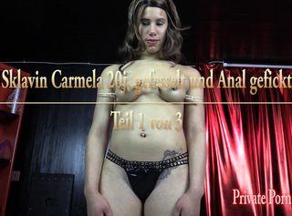 """Vorschaubild vom Privatporno mit dem Titel """"Sklavin Carmela 20j. gefesselt und Anal gefickt - Teil 1 von 3"""""""