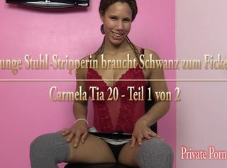 """Vorschaubild vom Privatporno mit dem Titel """"Junge Stuhl-Stripperin braucht Schwanz zum Ficken - Teil 1 von 2"""""""