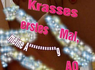 """Vorschaubild vom Privatporno mit dem Titel """"Krasses erstes Mal, meine Analentjungferung AO"""""""