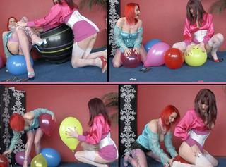"""Vorschaubild vom Privatporno mit dem Titel """"Two Girls American Balloon Popping"""""""