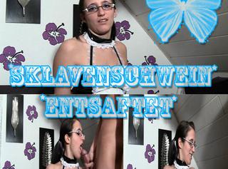 """Vorschaubild vom Privatporno mit dem Titel """"Sklavenschwein Entsaftet"""""""
