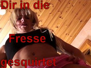 """Vorschaubild vom Privatporno mit dem Titel """"Dir in die Fresse gesquirtet!"""""""