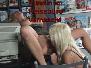 """Vorschaubild vom Privatporno mit dem Titel """"Kundin im Reisebüro vernascht!"""""""