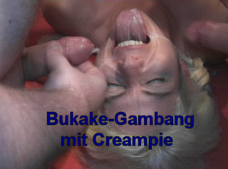 """Vorschaubild vom Privatporno mit dem Titel """"Bukake-Gangbang + Creampie!!"""""""