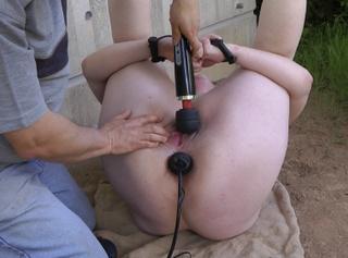 """Vorschaubild vom Privatporno mit dem Titel """"Outdoor Massager Torture"""""""