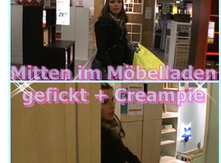"""Vorschaubild vom Privatporno mit dem Titel """"Skandal! Mitten im Möbelladen gefickt +Creampie!"""""""