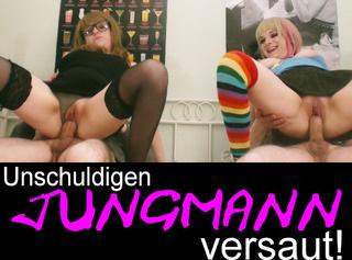 """Vorschaubild vom Privatporno mit dem Titel """"Unschuldigen Jungmann versaut!"""""""