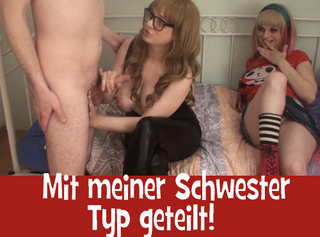 """Vorschaubild vom Privatporno mit dem Titel """"Mit meiner Schwester Typ geteilt!"""""""