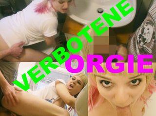 """Vorschaubild vom Privatporno mit dem Titel """"Verbotene Orgie in der WG!"""""""