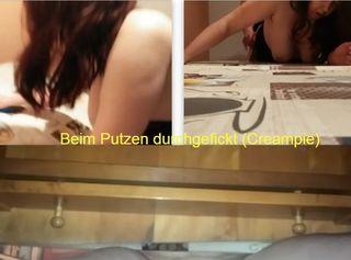 """Vorschaubild vom Privatporno mit dem Titel """"Beim Putzen durchgefickt (Creampie)"""""""