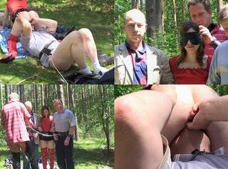 """Vorschaubild vom Privatporno mit dem Titel """"Mit Knebeldildo gefickt, in Ketten gelegt und abgeführt"""""""