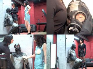 """Vorschaubild vom Privatporno mit dem Titel """"Atemkontrolle beim dummen Gummisklaven"""""""