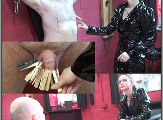 """Vorschaubild vom Privatporno mit dem Titel """"CBT: Klammern für den Sklaven"""""""