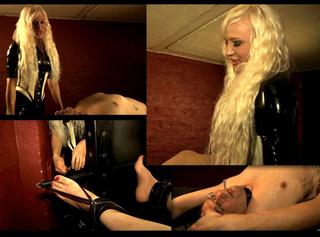 """Vorschaubild vom Privatporno mit dem Titel """"Sklave auf der Streckbank gefoltert"""""""