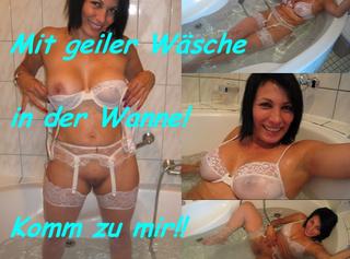 """Vorschaubild vom Privatporno mit dem Titel """"Mit geiler Wäsche in der Wanne!"""""""