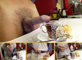 """Vorschaubild vom Privatporno mit dem Titel """"MorgenpisseTEE zum Frühstück"""""""