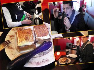 """Vorschaubild vom Privatporno mit dem Titel """"Mein Fick-Boy lutscht Dildo bei FastFood Restaurant"""""""
