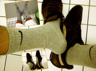 """Vorschaubild vom Privatporno mit dem Titel """"Meine grauen Socken für Sockenfetischsten"""""""