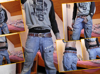 """Vorschaubild vom Privatporno mit dem Titel """"Skater Boy sagging in sexy Jeans"""""""