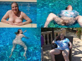 """Vorschaubild vom Privatporno mit dem Titel """"Wassernixe nackt im Pool"""""""