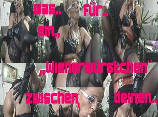 """Vorschaubild vom Privatporno mit dem Titel """"Ha,ha,was f. ein ,,Wienerwürstchen``zw.d.Beinen.."""""""