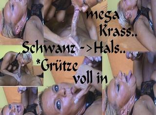 """Vorschaubild vom Privatporno mit dem Titel """"Schwanz in d.HALS-GRÜTZE voll i.d.FRESSE..."""""""