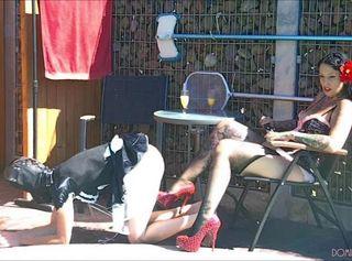 """Vorschaubild vom Privatporno mit dem Titel """"Slave Training by Mistress Tamara and Dominatrix Lady Vampira Part 1"""""""