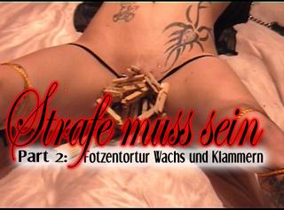 """Vorschaubild vom Privatporno mit dem Titel """"Strafe muss sein Part2 - Fotzentortur"""""""