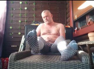 """Vorschaubild vom Privatporno mit dem Titel """"Entspannung in Nylon bei einem Zigarillo 1 ** Outdoor **"""""""