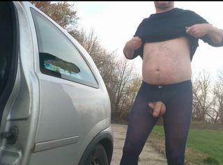 """Vorschaubild vom Privatporno mit dem Titel """"Blaue Feinstrumpfhose auf dem Feldweg ** FAN Video 14 **"""""""