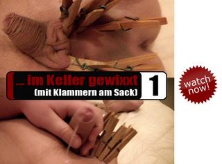 """Vorschaubild vom Privatporno mit dem Titel """"... im Keller gewixxt (01)"""""""