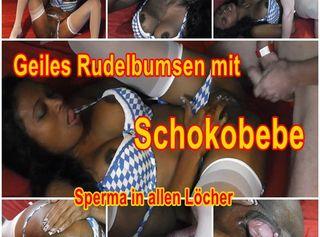 """Vorschaubild vom Privatporno mit dem Titel """"Geiles Rudelbumsen mit Schokobebe"""""""