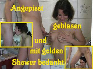 """Vorschaubild vom Privatporno mit dem Titel """"Angepisst, Cumshot und golden Shower"""""""