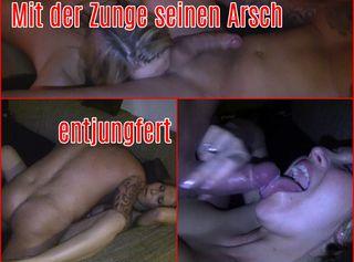 """Vorschaubild vom Privatporno mit dem Titel """"Mit der Zunge seinen Arsch entjungfert"""""""