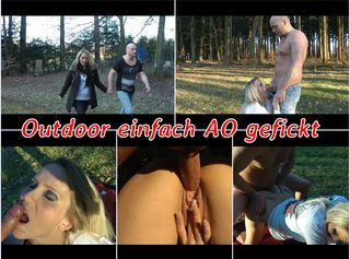 """Vorschaubild vom Privatporno mit dem Titel """"Outdoor AO durchgefickt"""""""