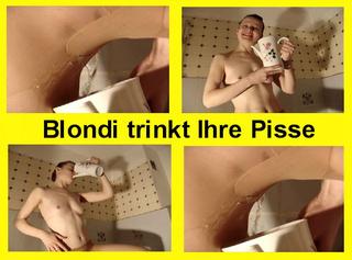 """Vorschaubild vom Privatporno mit dem Titel """"Blondi Trinkt Ihre Pisse"""""""