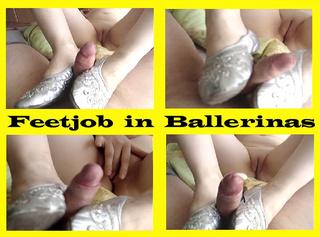 """Vorschaubild vom Privatporno mit dem Titel """"Feetjob in Ballerinas"""""""
