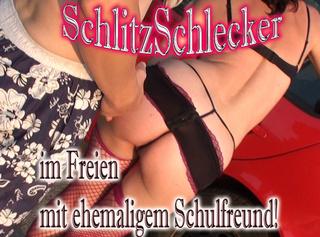 """Vorschaubild vom Privatporno mit dem Titel """"Schlitz Schlecker, im freien mit ehemaligem Schulfreund!!"""""""