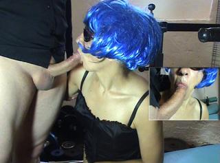 """Vorschaubild vom Privatporno mit dem Titel """"Blue Blowjob part one"""""""