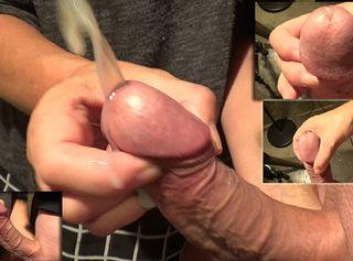 """Vorschaubild vom Privatporno mit dem Titel """"big load cumshot mit Fingernägeln"""""""