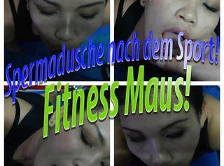 """Vorschaubild vom Privatporno mit dem Titel """"Spermadusche nach dem Sport! Fitness Maus!"""""""